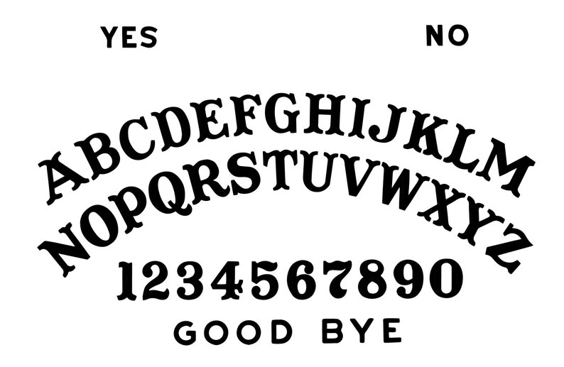 ouija board vinyl decal | etsy