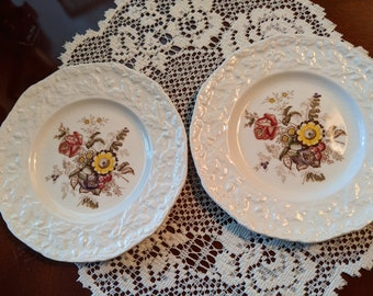 Mason's Friarswood 6-inch Bread and Butter Plates, 2, Vintage