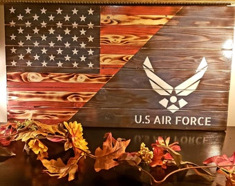 1f10bac437cd Rustic Wood American   Air Force Flag! Great Retirement   Graduation    Retirement   Birthday Gift! Easter Gifts!