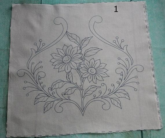 Easy Diy Embroidered Pillow Cover Diy Pillow Mexican Etsy