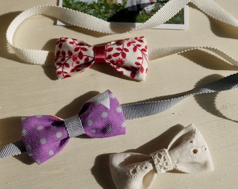 Tuto couture Noeud pour cheveux et Headband en tissu