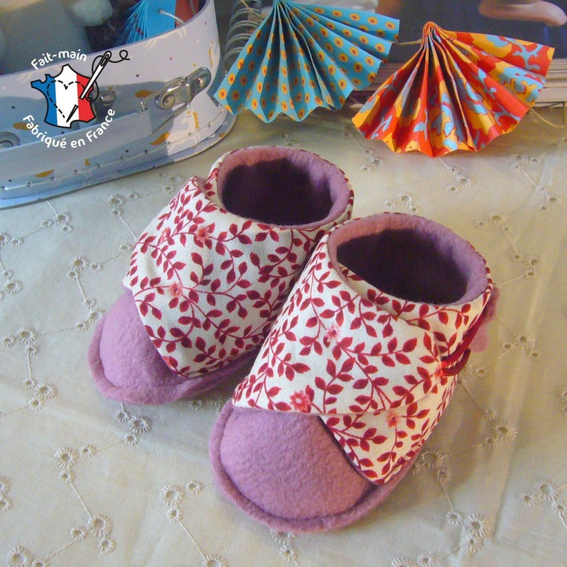 Baby slippers 0-12 months birth gift baby booties birth gift Rose et rose