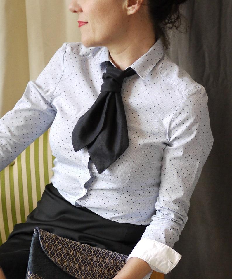 Patron Cravate pour femme couture facile  accessoire image 0
