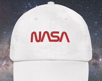 51e835ac NASA Worm Logo Embroidered Cap Dad cap dad hat dad baseball cap nasa cap  nasa hat