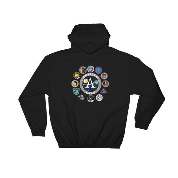 NASA Hoodie Apollo Mission Patch Black Hoody