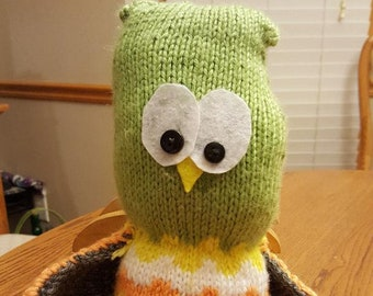 Handknitted stuffed toy