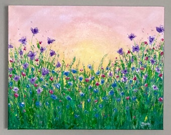 Sunrise Over Wildflowers