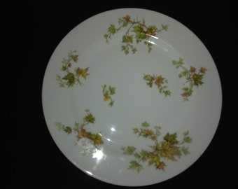 "Haviland Autumn Leaf China 10"" Dinner Plate"