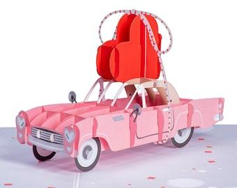 Pictoria Press 3D Pop Up Greeting Card Classic Car Bentley Blank Happy Birthday