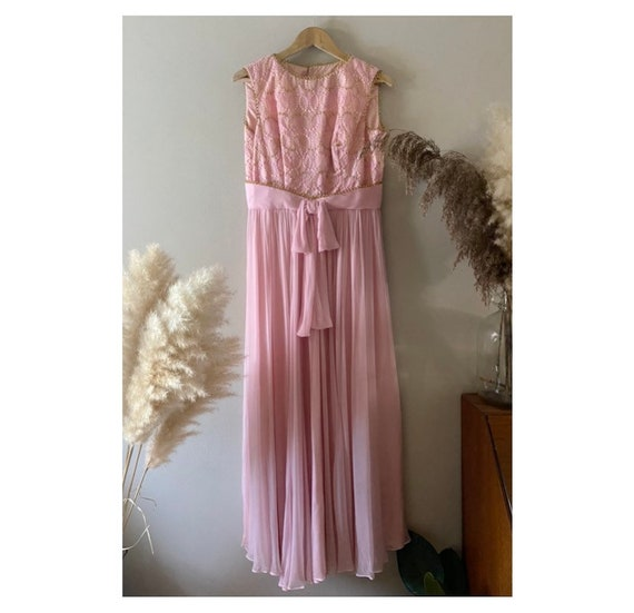 Lucinda/60s evening dress/prom dress/embroidered d