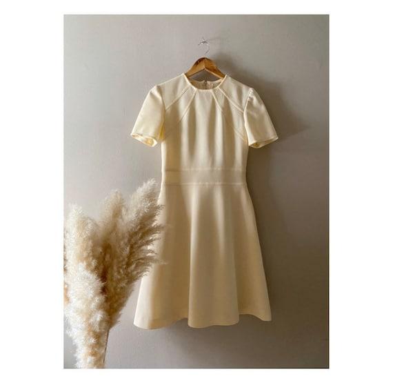 Susie/1960s handmade cream dress