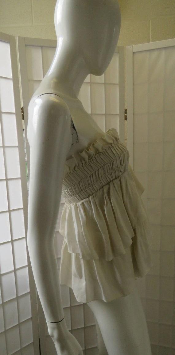 Vintage Isabel Marant Crepe Linen Tube Top - image 4