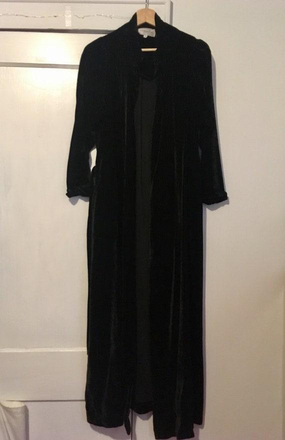 Vintage Christian Dior Velvet Pinstriped Robe