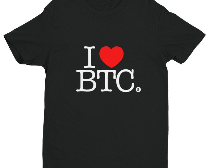 I Heart BTC Shirt | Bitcoin | Cryptocurrency Shirt | Bitcoin Dad | Bitcoin Mom