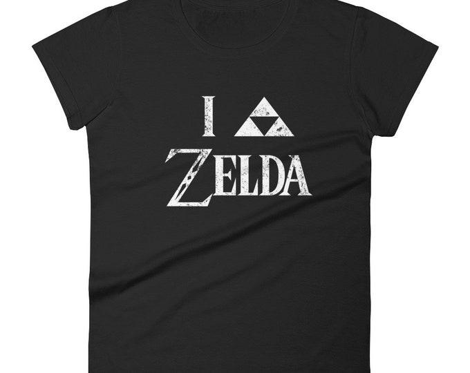 I Triforce Zelda Women's T-Shirt - White Faded Design | I Heart Zelda | Legend of Zelda | Link | Hyrule