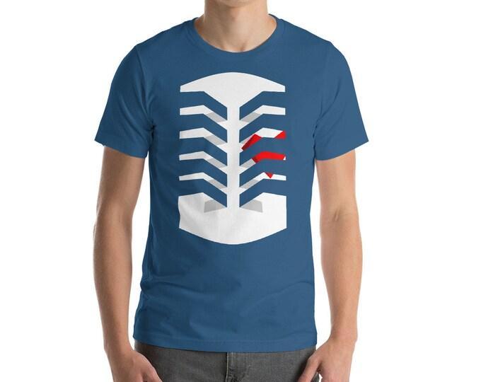 Heart in Cage Unisex Shirt   Muckender Original Art, Heart Shirt, Valentines Shirt, Ribcage Shirt, Caged Heart, Love