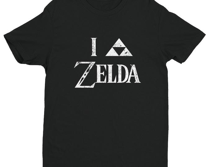 I Triforce Zelda Men's T-Shirt - White Faded   I Heart Zelda   Legend of Zelda   Link   Hyrule