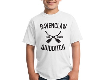 Ravenclaw Quidditch Top, Quidditch Kids Tee, Quidditch Top, Potter Kids, Potter Costume, Boy Potter, Girl Potter, Kids Hogwarts, Harry