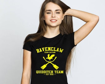 Ravenclaw quidditch, quidditch tshirt, ravenclaw, quidditch clothing, harry potter top, potter tshirt, hogwarts clothing, harry potter