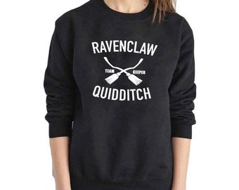 Ravenclaw Quidditch, Ravenclaw Sweatshirt, Ravenclaw Pullover, Team Keeper Pull, Quidditch Team, Harry Potter Top, Potter Sweatshirt, Potter