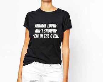 Animal Lover Vegan Style High Quality Cotton T-shirt VG1