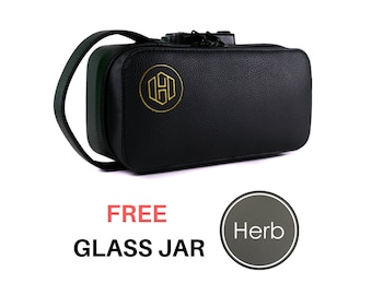 Vegan Leather Smell Proof Lockable Case - Stash Box - Smell Proof Bag -Weed-Cannabis Storage-Gift for Him-Gift for Her