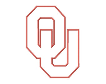 b89aedacc1d 9 SIZES Oklahoma Sooners Applique Embroidery Designs Sport Logo Embroidery  University Football Applique Designs College Football