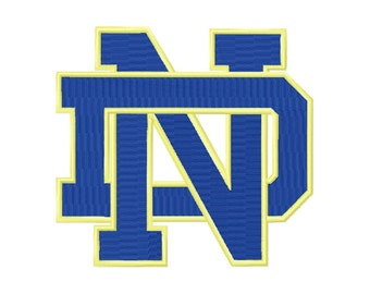 9 SIZES Notre Dame Fighting Irish Embroidery Designs Sport Logo Embroidery University Football Applique Designs College Football