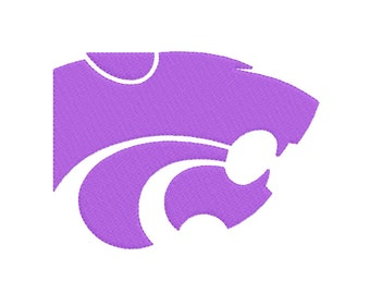 9 SIZES Kansas State Wildcats Embroidery Designs Sport Logo Embroidery University Football Applique Designs College Football