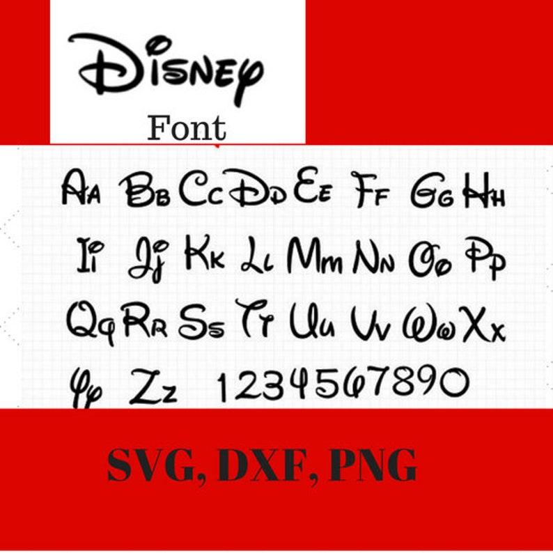 Disney Alphabet Svg Dxf Png Disney Alphabet Disney Dwnload Etsy