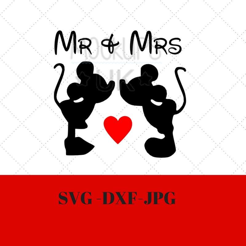 Disney Valentine Svg Disney Wedding Svg Mickey And Minnie Svg Etsy