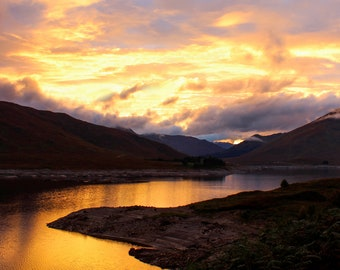 Sunset over the Highlands