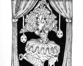 Print: CREEPY BALLET