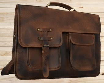 c12d0817b2 18 Inch Extra Large Leather Messenger bag