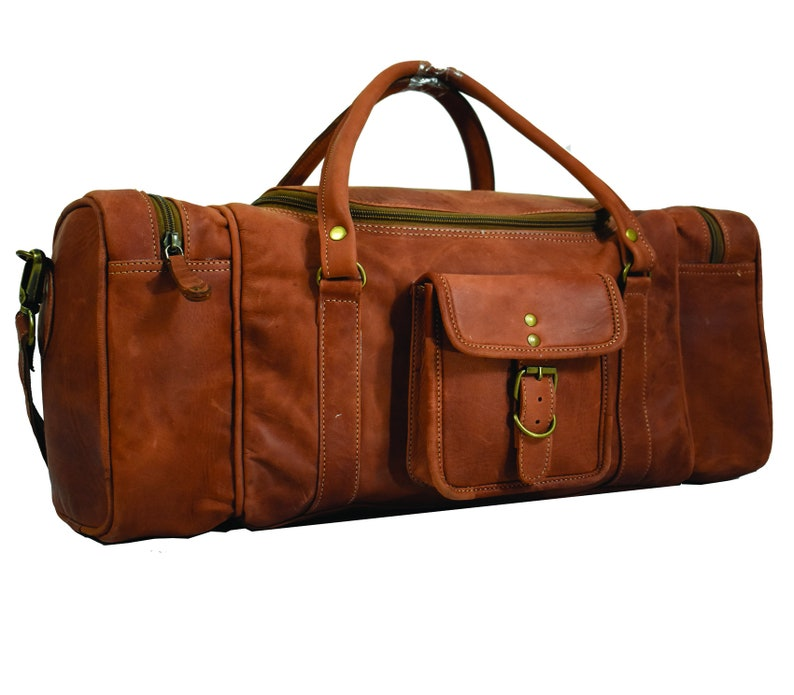 Extra Large Leather Duffle Bag Full Grain Leather Weekend  b271c13660360
