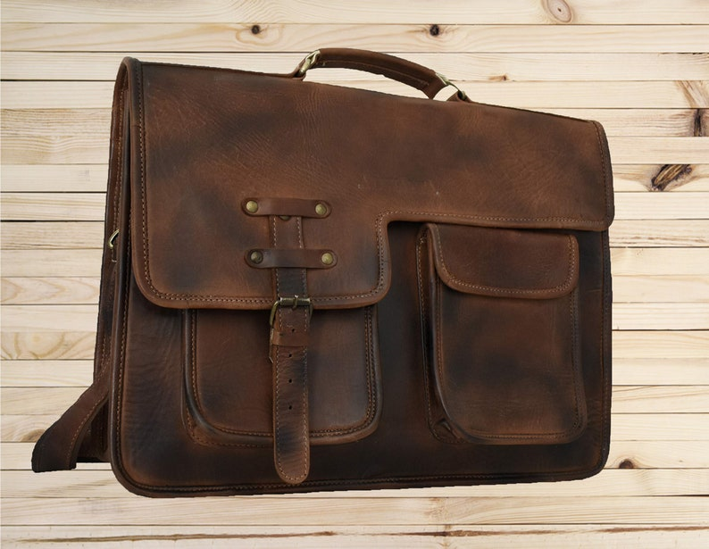 aa0ab637a2 18 Inch Extra Large Leather Messenger bag Full Grain Leather