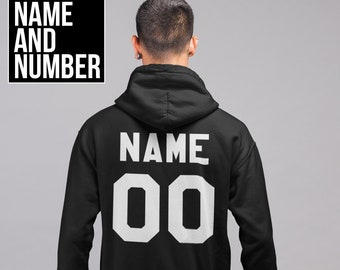 fb64f309 Personalized Hoodie, Custom Hoodie, Any Name, Any Number, Personalized  Sweater, Unisex Hoodie, Customized Pullover Sweatshirt, Any Name