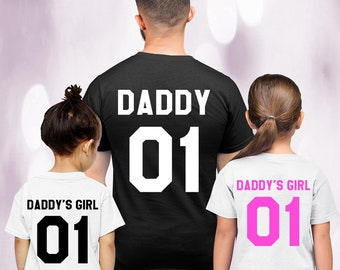 5ee67cb0 Daddy and Daddy's Girl Set, Father Daughter Matching Shirts, Matching Dad  Baby, Daddy Daughter, Father's Day Gift, Father Daughter Shirts