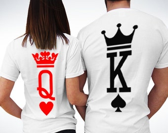 34aa5beb3 King Queen Shirts, King and Queen T-shirts, Couples Shirts, Matching shirts,  Valentines Day Shirt, King Queen Set, King And Queen, Best Gift