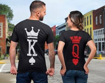cd7d62a4 King Queen Shirts, King and Queen T-shirts, Couples Shirts Set, King Queen  Set Shirts, Couple T-shirts, Matching tshirts, Valentines Shirts