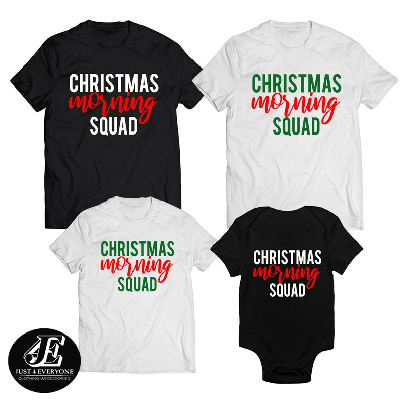 dc9e6e94c0cdc Christmas Morning Squad Shirts, Christmas Family Shirts, Mommy Daddy  Christmas Shirts, Christmas Gift, Funny Christmas, Merry Christmas Tees