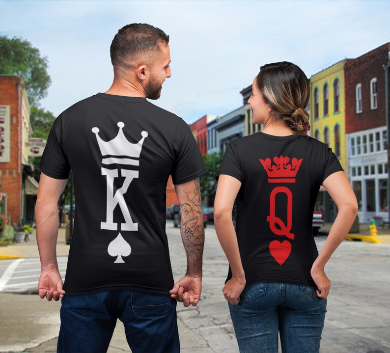 d820c05337e5 King Queen Shirts King and Queen T-shirts Couples Shirts | Etsy