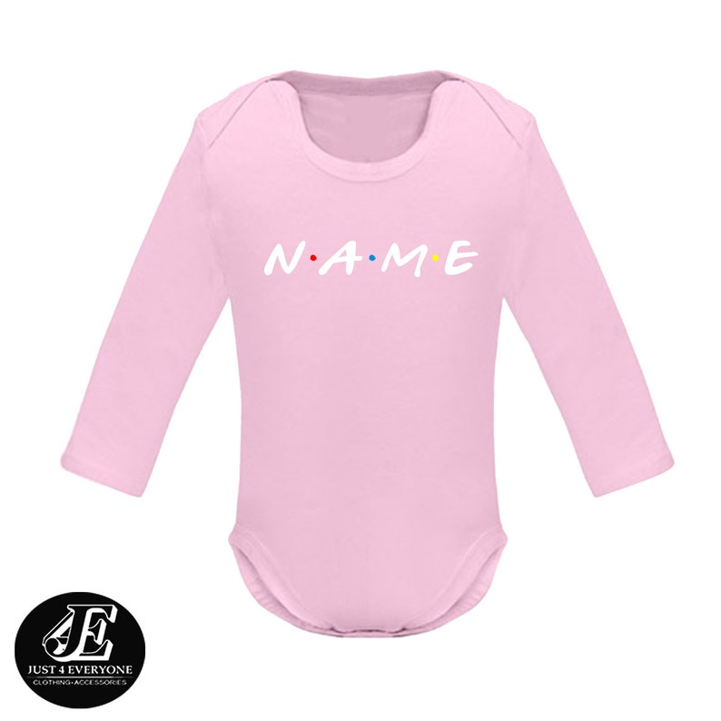 Custom Name Friends Shirt Custom Baby Bodysuit Custom Baby Onesie Custom Onesie Baby Shower Gift Personalized Onesie Friends Tv Show