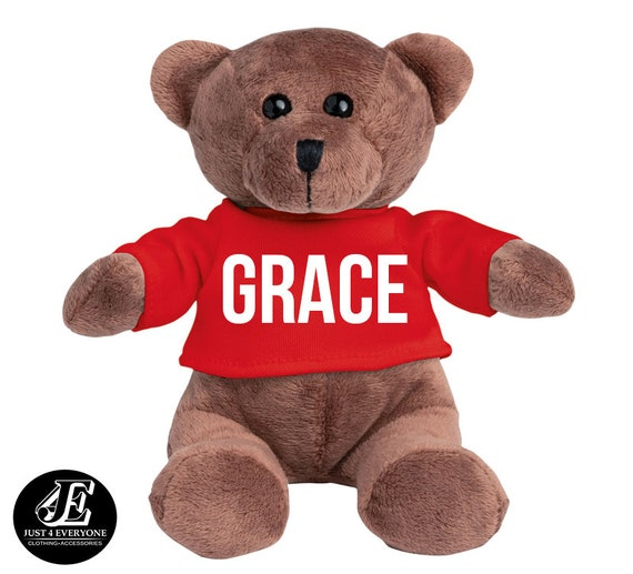 Valentine/'s Day Personalised Couple In Love Red Jumper Teddy Bear Christmas