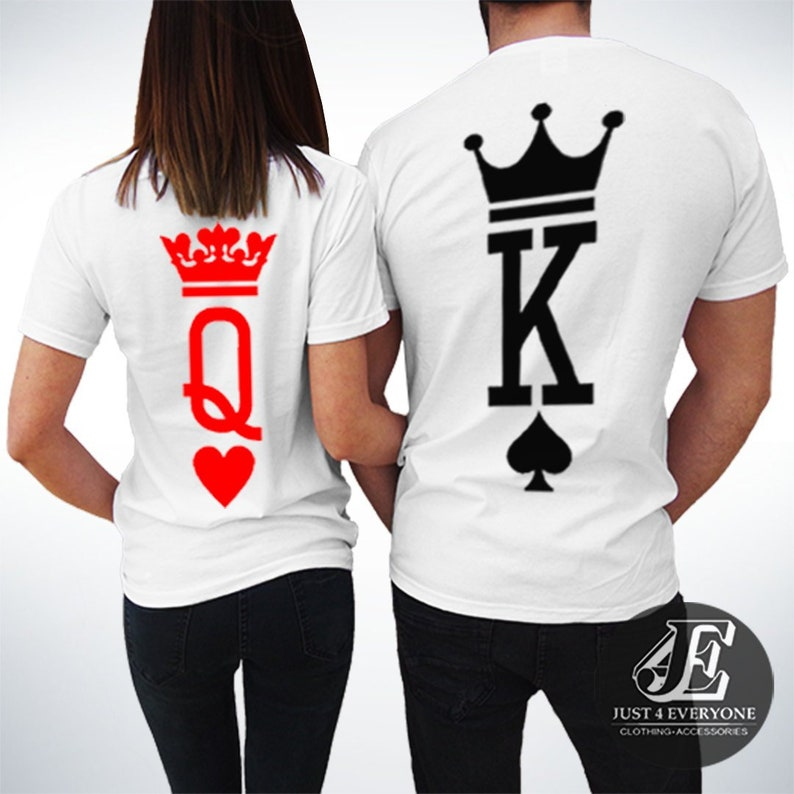61f84004ed1c King Queen Shirts King and Queen T-shirts Couples Shirts | Etsy