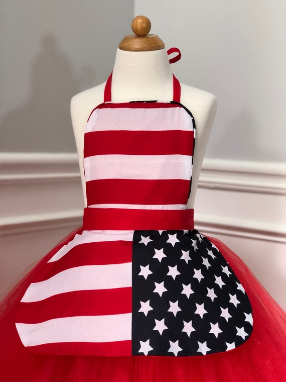 Girls Apron Birthday tutu dress puppy dress up outfit kids apron outdoors party picnic Apron play house dress up