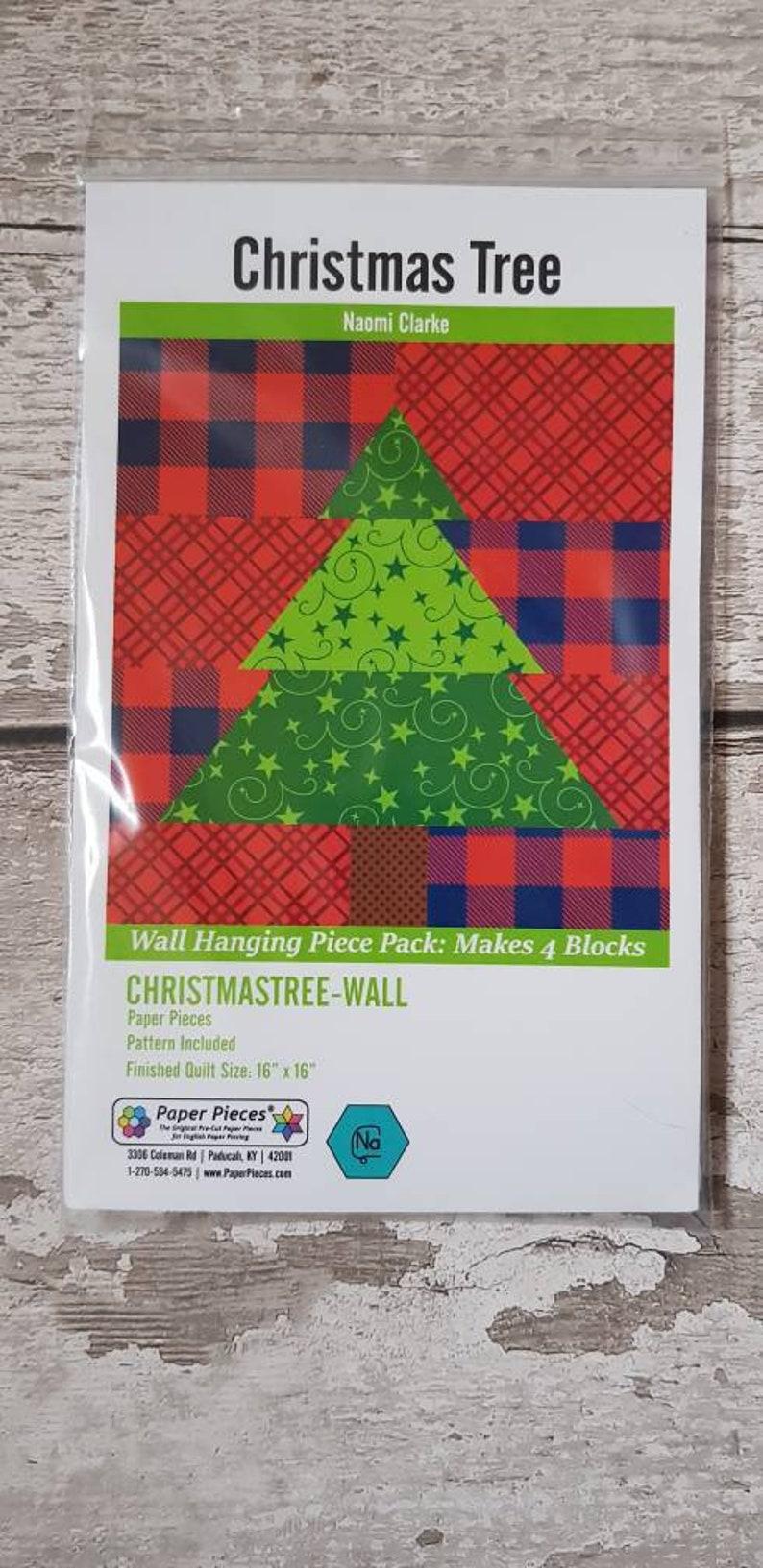 Christmas Craft Kit English Paper Piecing Christmas Trees Wall Hanging Kit