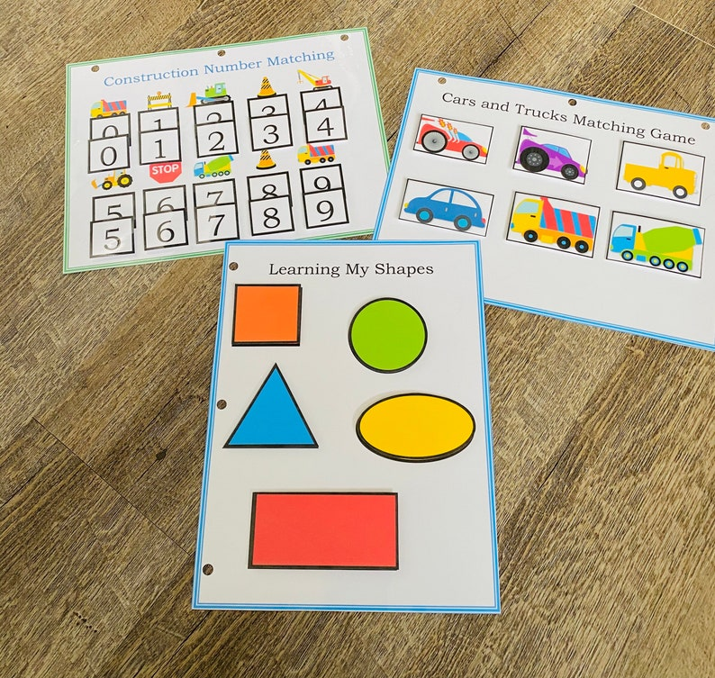 morning work hands on learning Preschool Curriculum homeschool personalized Activity book Toddler Busy Book dry erase activities