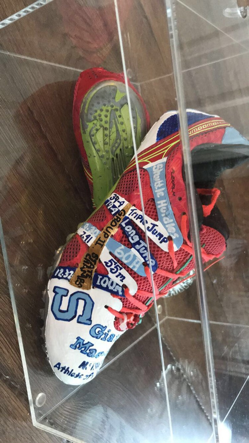 Senior Athlete Gift Custom Hand Painted Track Spikes All sports, any object can be custom painted Your Milestone Your Name