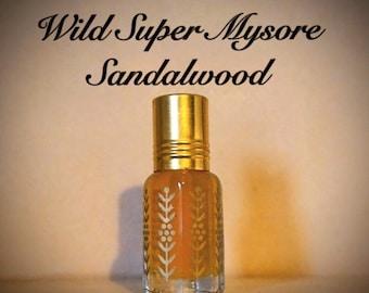 Wild Super Mysore Sandalwood Oil (natural, high quality, organic, wild, essential oil, fragrance)